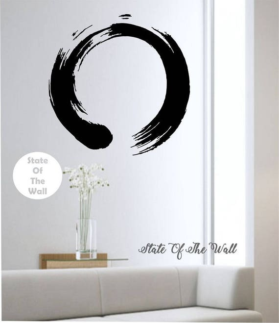 zen circle wall decal vinyl sticker art decor bedroom design | etsy