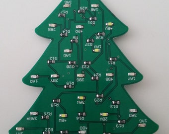 Circuit board Christmas tree ornament