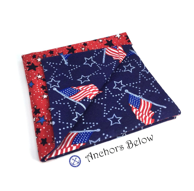 American Flag Einstecktuch USA Tasche Platz rot weiß und | Etsy