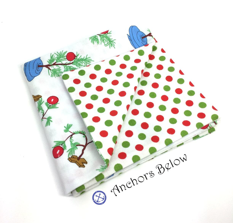 Weihnachten-Einstecktuch rot und grün Weihnachten Polka Dot | Etsy