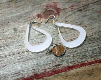 Lucite Earring Drops Pink, Green or White