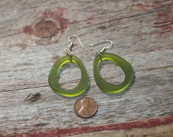 Lucite Hoops Pink, Green or White