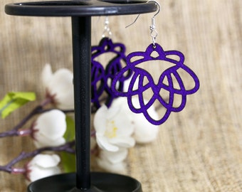Dark Purple Light Weight Felt Jewelry