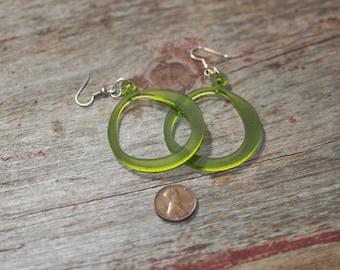 Acrylic Earrings hoop shaped, Pink, Green, White, laser cut acrylic, wedding jewelry, gifts under 20