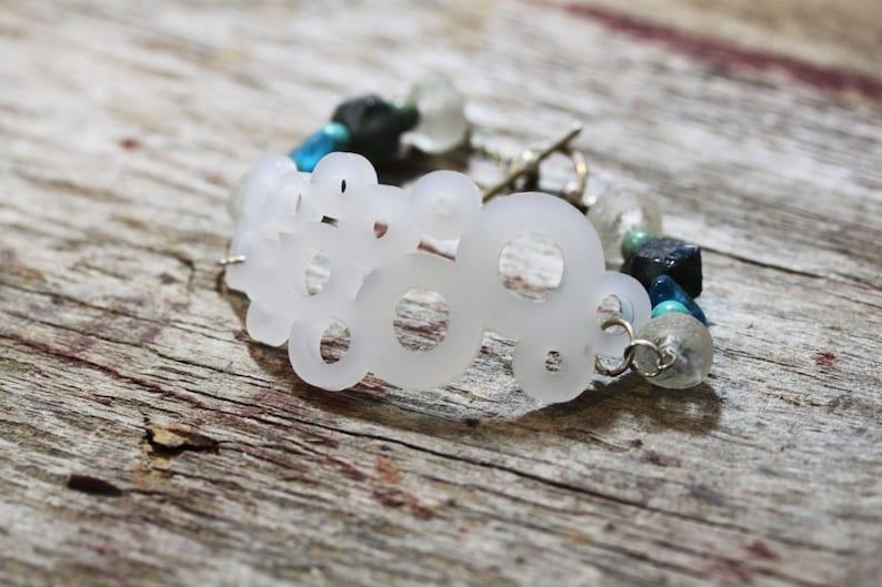 Acrylic jewelry bracelet sea beads recycled glass beads image 0