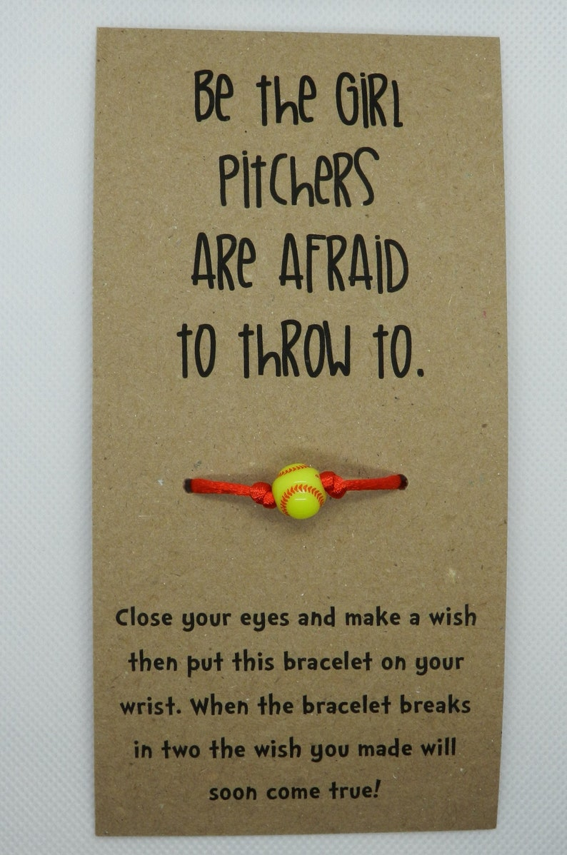 Softball Wish Bracelet: Be The Girl Pitchers Are Afraid to image 0