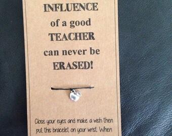 Wish bracelet: teacher