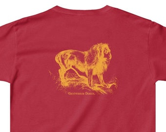 f83e19001a9b Kid's Magic & Science Mashup Lion T-Shirt - Scientific Wizards School House  Mascot in