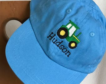 Personalized Tractor Baseball Hat Cap Gifts,Personalized Infant Toddler Youth Cap Hat Gifts,Custom Baseball Cap Hat,Tractor Birthday Gift