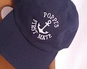 FIRST MATE Baseball Cap Hat,custom made sailor cap hat,personalized youth nautical cap hat,personalized infant toddler youth sailor hat.