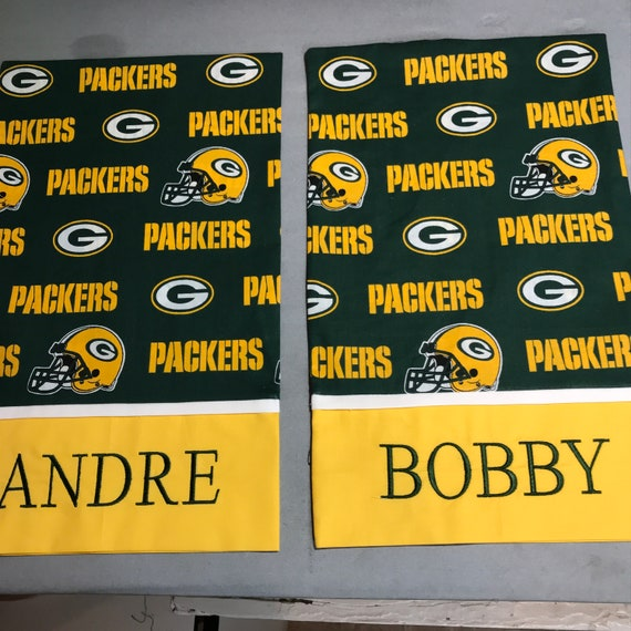 Green Bay Packers Custom Pillow casePersonalized Packers  4304d8352