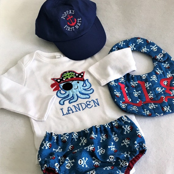 f2a53c6362788 Custom Handmade Pirate Baby ClothingPirate Newborn Boy Baby