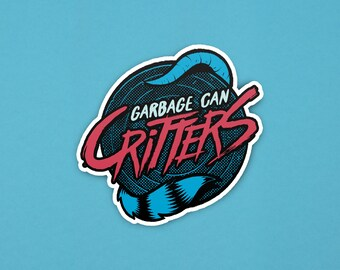 Garbage Can Critters Logo - Sticker