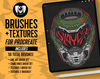Procreate Brushes & Textures  Collection