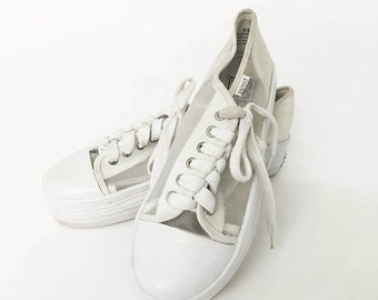 9b7dbf7236eb 90s Vintage ESPRIT Mesh shoes   White