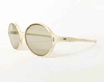 8ee5bc9ea1e 70s Vintage French Marble lines Sunglasses   made in France