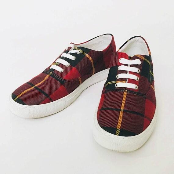 COMME des GARCONS Red Plaid shoes