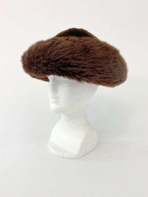 60s Vintage Italian Fur leather mountain hat - image 1