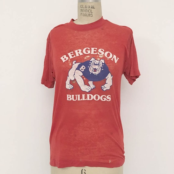80s Vintage distressed Paper Thin Bulldogs Shirt