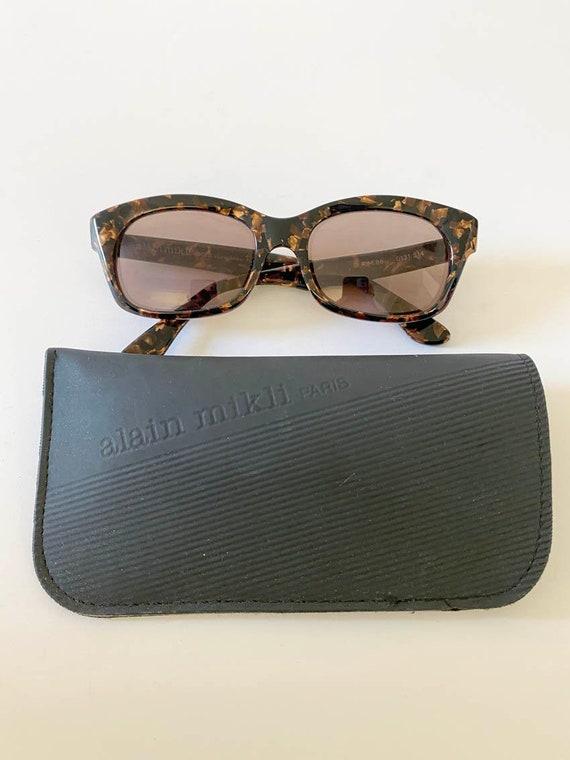 80s Vintage Alain Mikli Tortoise Sunglasses w Cas… - image 1