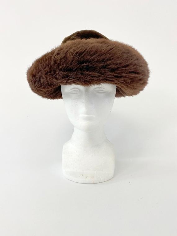 60s Vintage Italian Fur leather mountain hat - image 2