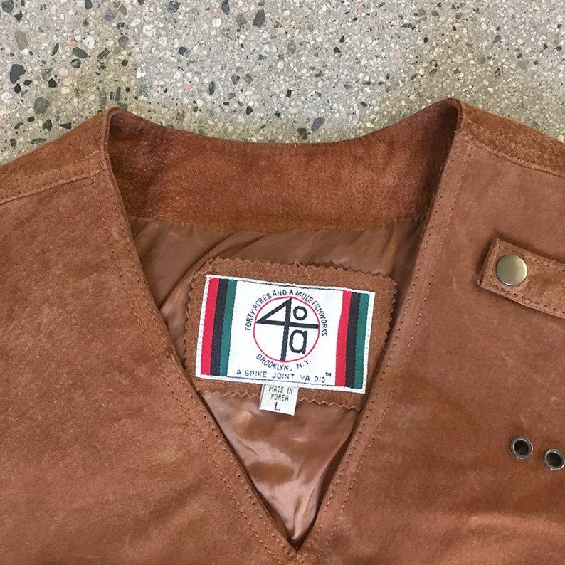 9c009f4e889a 90s Vintage 40 ACRES and a Mule Leather vest