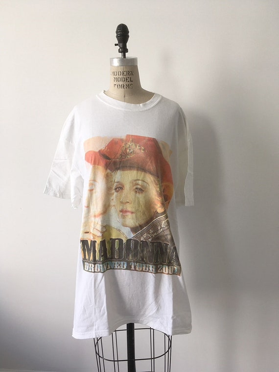 00s Vintage MADONNA drowned Tour shirt