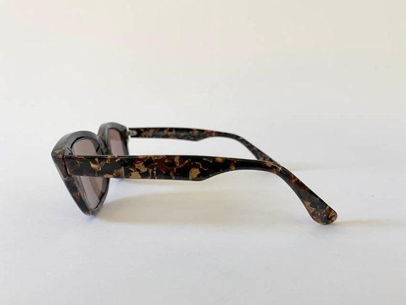 80s Vintage Alain Mikli Tortoise Sunglasses w Cas… - image 3