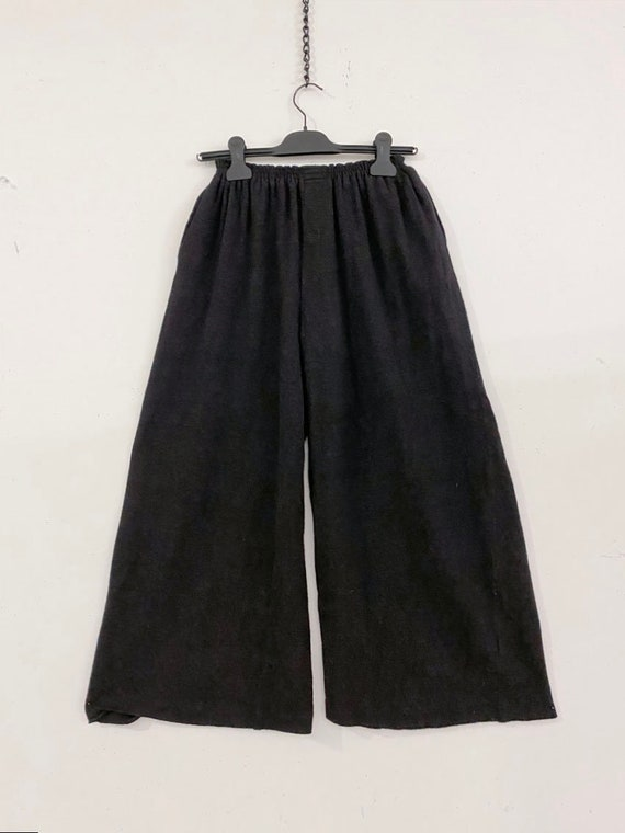 80s Vintage Patrick Kelly wool wide pants