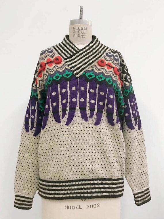 80s Vintage KANSAI YAMAMOTO 3D knit sweater