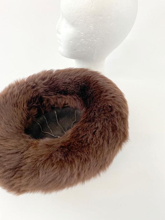 60s Vintage Italian Fur leather mountain hat - image 4