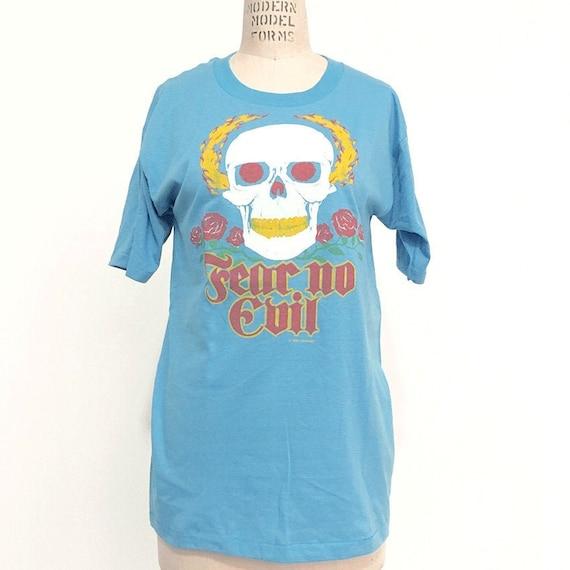 80s Vintage AirWaves Skull Rose T-shirt