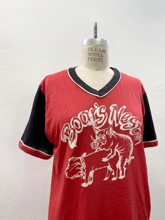 80s Vintage BDSM fetish Boar's nest shirt