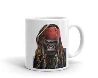 Grumpy Gorilla as Pirate Ship Captain, Buccaneer - Mug