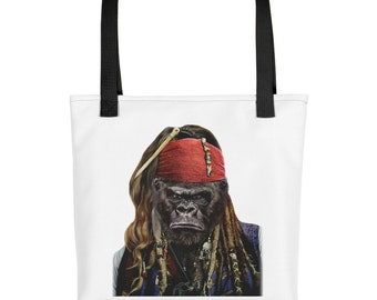 Grumpy Gorilla as Pirate Ship Captain, Buccaneer - Tote bag