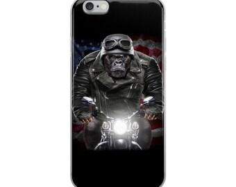Patriot Biker Gorilla Ride Motorcycle - iPhone Case