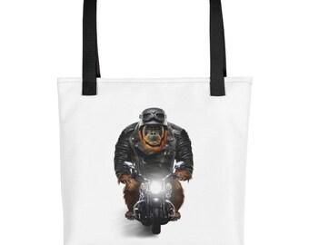 Orangutan Biker Ape Ride Motorcycle - Tote bag