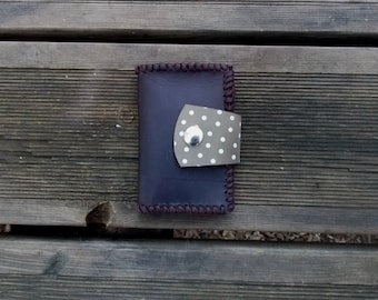 Womens Wallet, leather wallet woman, Leather Wallet, man Wallet, polka dots wallet, Wallet Brown, leather women wallet, brown Leather,