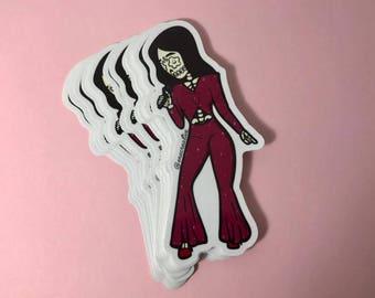"La Reina Vinyl Sticker - Dia De Los Muertos / Day of the Dead - ""1995"" - Laptop Decal -"