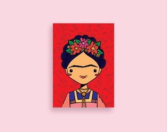 "Friduchita ""Worthy"" 5x7 Illustrated Print - Frida Kahlo - Latinx Gifts"