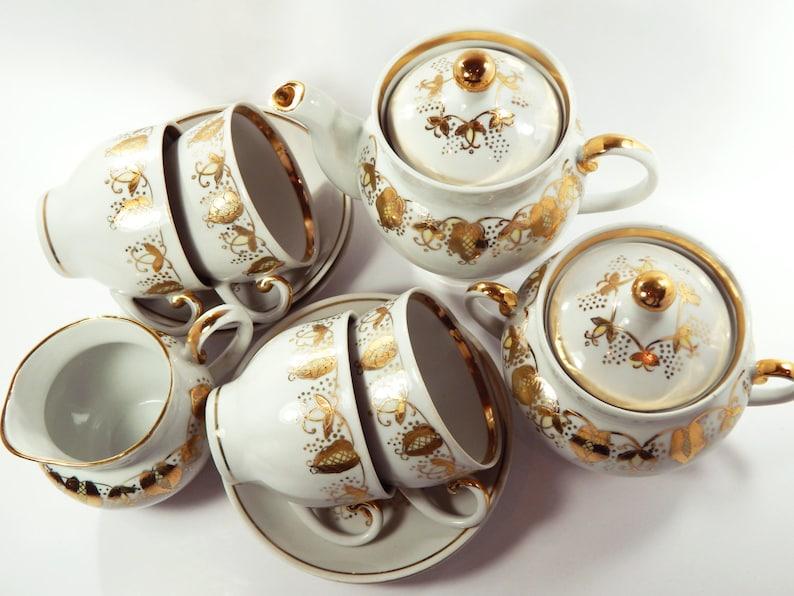ad1a2a248f3 Tee Set Tee-Set Jahrgang Teeservice Porzellan Tee Kanne Tee | Etsy