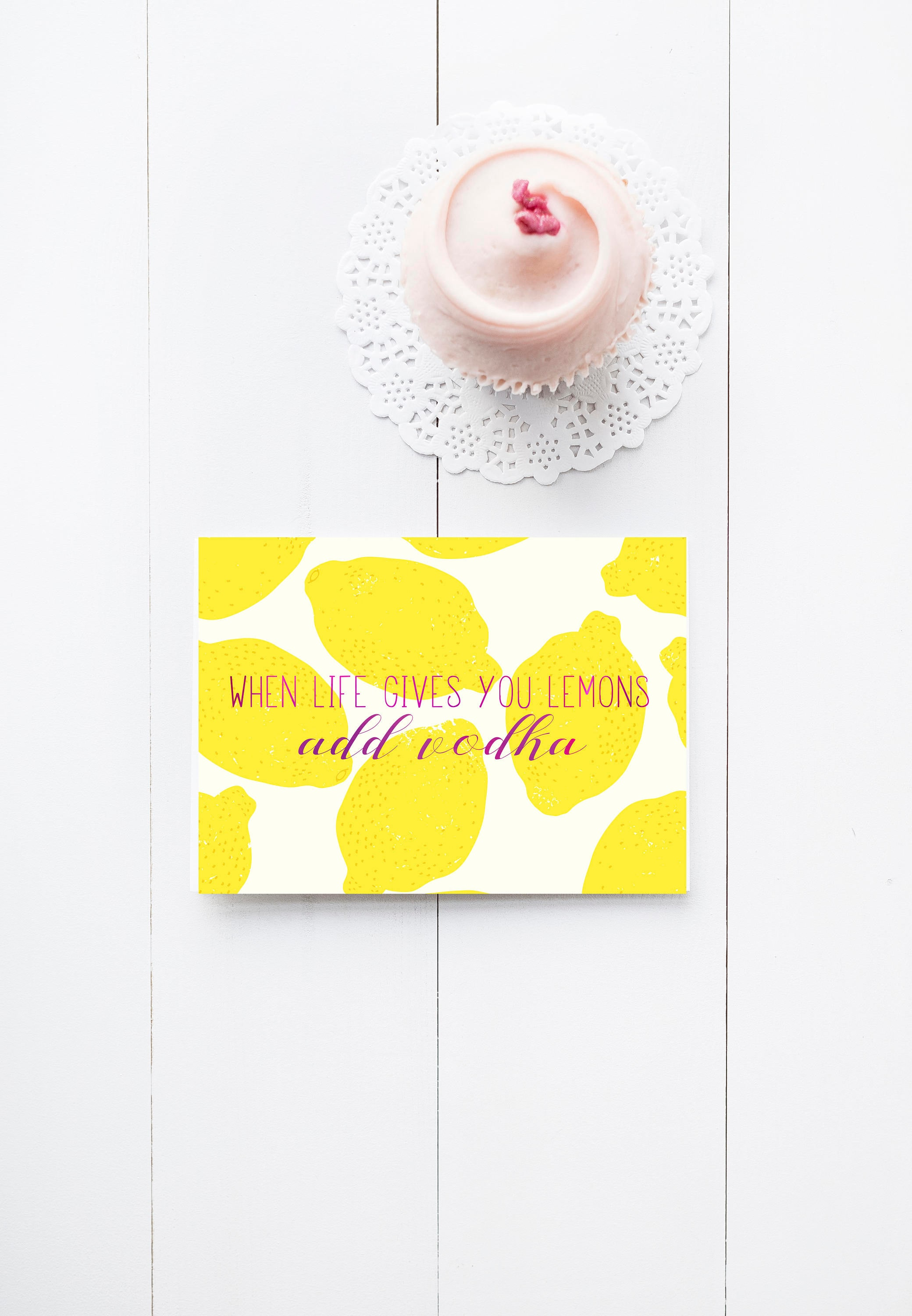 Foil Pressed Greeting Cards When Life Gives You Lemons Add Etsy