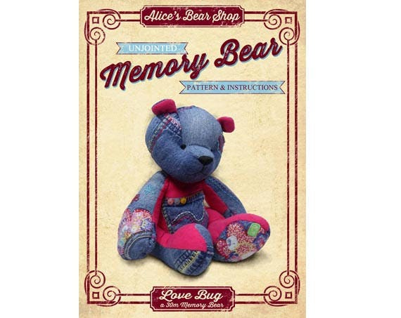 image relating to Memory Bear Sewing Pattern Free Printable titled Obtain Memory Go through Sewing Practice and Recommendations Get pleasure from Bug, Unjointed - 30cm/12\