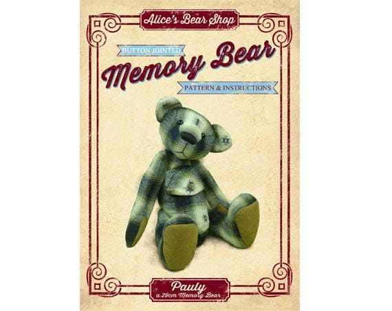Download Memory Bear Sewing Pattern And Instructions Booklet Etsy