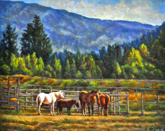Valley with Horses