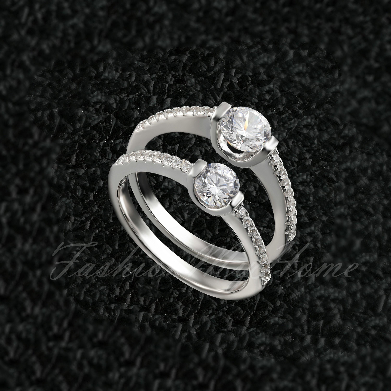 0.4ct 0.5ct Man Made Diamond SimulantEngagement Ring for  8b0158391c