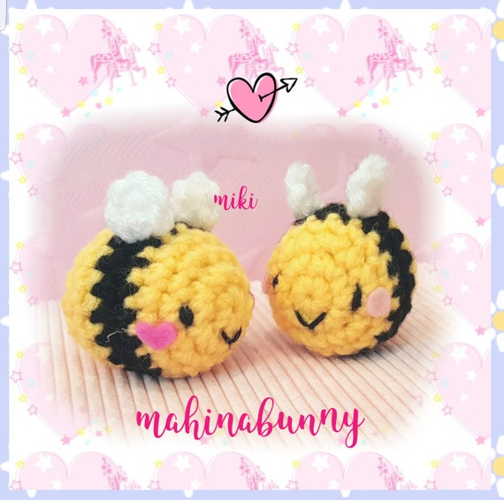 Pdf Pattern Tiny Bee Bee Plush Crochet Bee Pattern Etsy