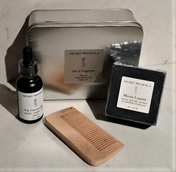 Transcendent Beard Oil Kit - Beard Gift Set - Beard Shampoo - Beard Comb -  Beard Grooming - Beard Care