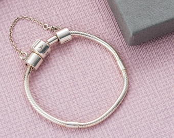 cbaac75d4 Charm Bead Starter Bracelet | Sterling silver | Made in the UK | Ideal for  Annalise, Pandora and more