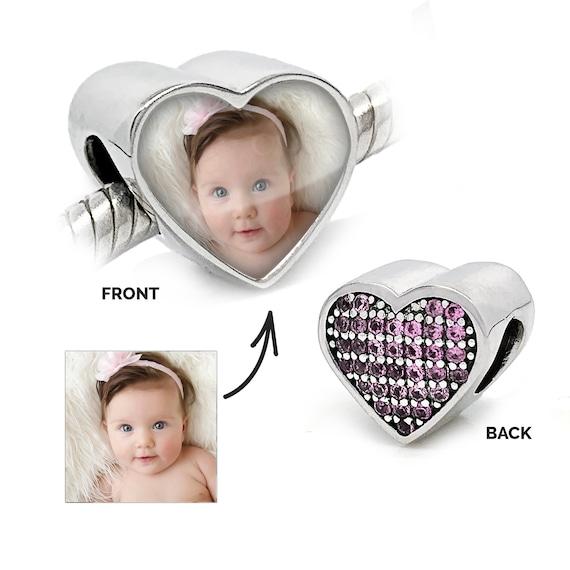 Personalized Pandora Charm Compatible Rose Love Heart Pandora Etsy